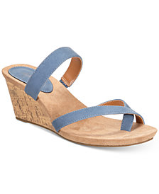 Style & Co Madelaa Slip-On Wedge Sandals, Created for Macy's