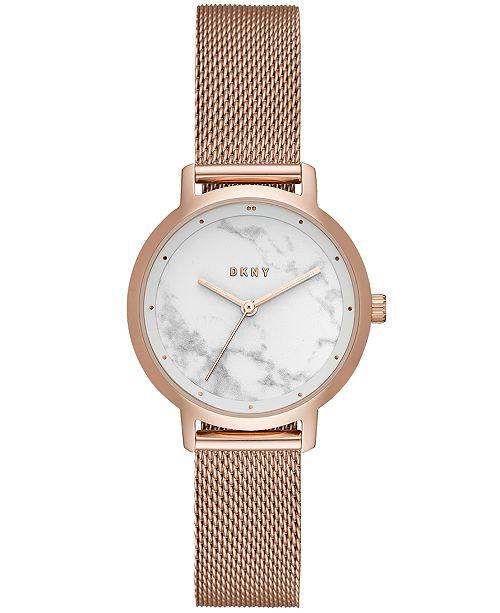 6daf81d533158 ... DKNY Women s Modernist Rose Gold-Tone Stainless-Steel Mesh Bracelet  Watch 32mm