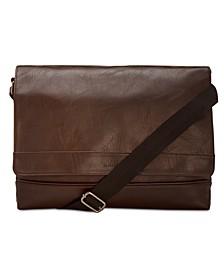 Men's Pebbled Messenger Bag