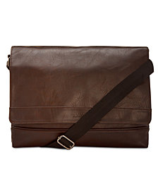Kenneth Cole Reaction Men's Slim Faux-Leather Messenger Bag