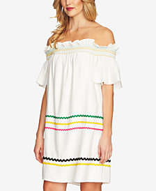 CeCe Off-The-Shoulder Ric-Rac Dress