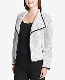 Calvin Klein Faux-Leather-Trim Jacket