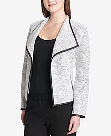Calvin Klein Faux-Leather-Trim Jacket