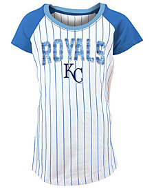 5th & Ocean Kansas City Royals Sequin Pinstripe T-Shirt, Girls (4-16)