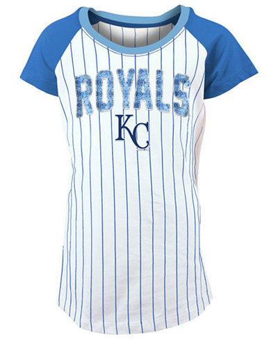 5th & Ocean Kansas City Royals Sequin Pinstripe T-Shirt, Girls (4-16)