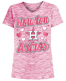 5th & Ocean Houston Astros Spacedye T-Shirt, Girls (4-16)