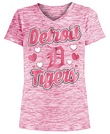 5th & Ocean Detroit Tigers Spacedye T-Shirt, Girls (4-16)