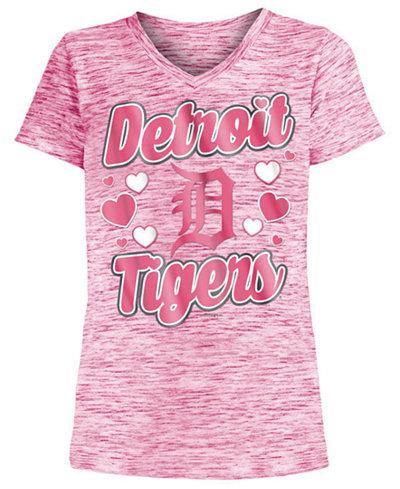 5th & Ocean Detroit Tigers Spacedye T-Shirt, Girls (4-16)