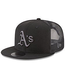 New Era Oakland Athletics Blackout Mesh 9FIFTY Snapback Cap