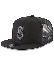 New Era Seattle Mariners Blackout Mesh 9FIFTY Snapback Cap