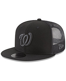 New Era Washington Nationals Blackout Mesh 9FIFTY Snapback Cap