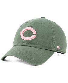 '47 Brand Cincinnati Reds Moss Pink CLEAN UP Cap
