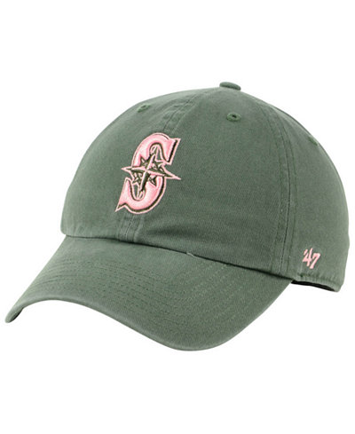 '47 Brand Seattle Mariners Moss Pink CLEAN UP Cap