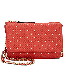 I.N.C. Quiin Double Gusset Crossbody, Created for Macy's