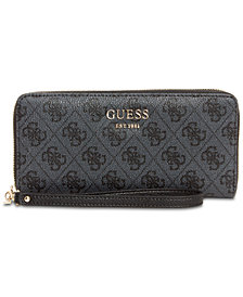 GUESS Vikky Signature Large Zip Around Wallet