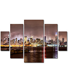David Ayash 'Midtown Manhattan over Hudson River' Multi-Panel Wall Art Set