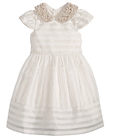 Bonnie Jean Toddler Girls Beaded-Collar Organza Dress