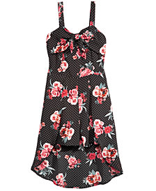Monteau Big Girls Floral-Print Skirted Romper
