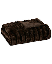 "Madison Park Duke Ribbed 50"" x 60"" Faux-Fur Throw"
