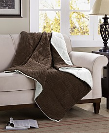 "Madison Park Jackson Reversible 50"" x 60"" Down-Alternative Throw"