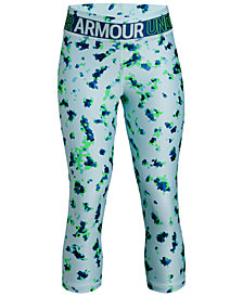 Under Armour HeatGear® Printed Capri Leggings, Big Girls