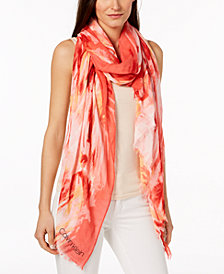 Calvin Klein Painterly Ombré Chambray Cover Up & Wrap, Created for Macy's