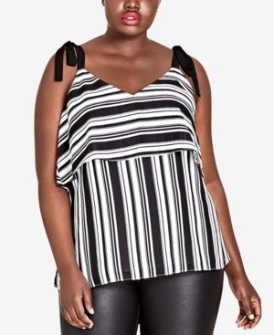City Chic TRENDY PLUS SIZE STRIPED TOP