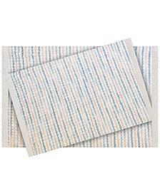 LAST ACT! Idea Nuova 2-Pc. Tufted Ombré-Stripe Bath Rug Set