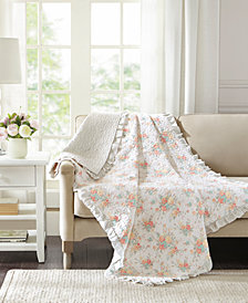 "Madison Park Serendipity Oversized 50"" x 70"" Quilted Reversible Printed Throw"