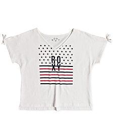 Roxy Graphic-Print Cotton T-Shirt, Big Girls
