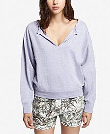 Sanctuary Breslin Cotton V-Neck Sweatshirt