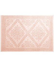 LAST ACT! Idea Nuova Cotton Diamond Medallion Jacquard Bath Rug Collection
