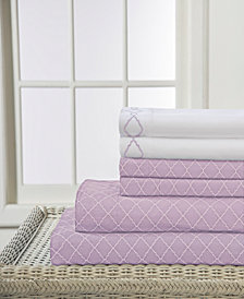 Elite Home Revina Printed 4-Pc. Twin Sheet Set