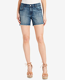 Jessica Simpson Juniors' Mika Best Friend Embroidered Denim Shorts