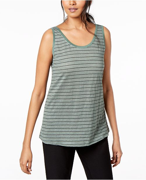 94eeb803fe6 Eileen Fisher Organic Linen Striped Tank Top   Reviews - Tops ...