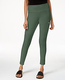 Eileen Fisher Organic Cotton Seamed Pull-On Skinny Pants, Regular & Petite