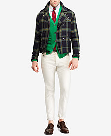 Polo Ralph Lauren Men's Tartan Moto Jacket