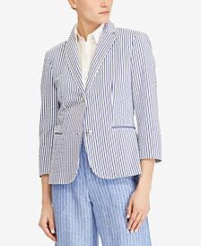 Lauren Ralph Lauren Petite Striped Blazer