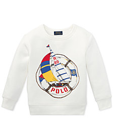 Polo Ralph Lauren Little Boys CP-93 Crew-Neck Fleece Sweatshirt