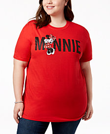 Disney Plus Size Cotton Minnie Mouse Graphic T-Shirt