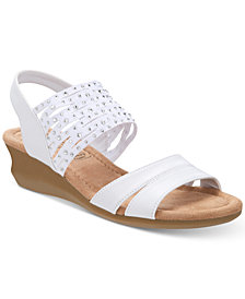 Impo Gamila Stretch Embellished Wedge Sandals