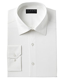AlfaTech by Alfani Men's Slim-Fit Performance Stretch Easy-Care Tonal Diamond Dress Shirt, Created for Macy's