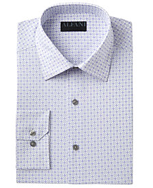 AlfaTech by Alfani Men's Slim-Fit Performance Stretch Easy-Care Circle & Geometric Pattern Dress Shirt, Created for Macy's