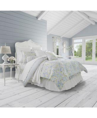 Flower Bed Blue 4-Pc. Queen Comforter Set