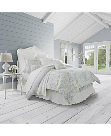 Piper & Wright Flower Bed Blue 4-Pc. King Comforter Set