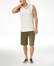 American Rag Henley Tank & Long Knit Shorts, Created for Macy's