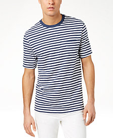 Club Room Men's Striped Pocket T-Shirt, Created for Macy's
