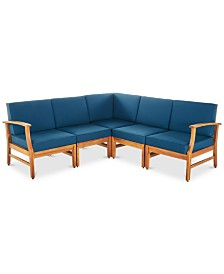 Hawthorne 5-Pc. Outdoor Sectional Seating Set, Quick Ship