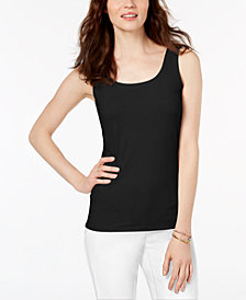 Alfani Petite Scoop Neck Tank Top, Created for Macy's