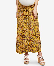 Jessica Simpson Maternity Printed Maxi Skirt